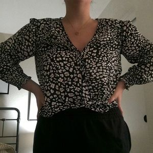 Leopard or Cheetah print blouse